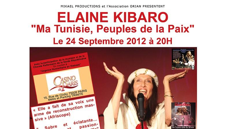 Elaine Kibaro au Casino de Paris - septembre 2012
